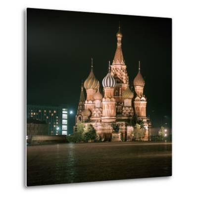 St Basils Cathedral at Night-CM Dixon-Metal Print
