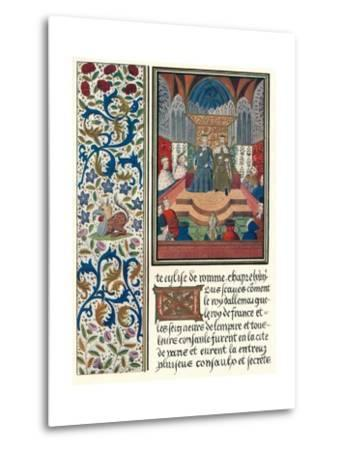 Illuminated Page, with Bordering, C1480-Jean Froissart-Metal Print