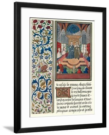 Illuminated Page, with Bordering, C1480-Jean Froissart-Framed Giclee Print