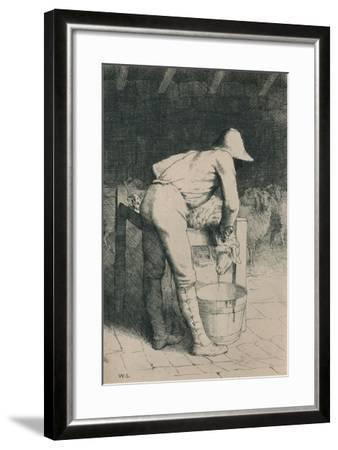 The Butcher and the Sheep, C1916-William Strang-Framed Giclee Print