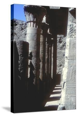 Lotus Capitals, Temple of Horus, Edfu, Egypt, Ptolemaic Period, C251 Bc-C246 Bc-CM Dixon-Stretched Canvas Print