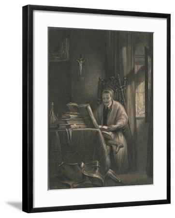 Don Quixote in His Study, 1831-Richard Parkes Bonington-Framed Giclee Print
