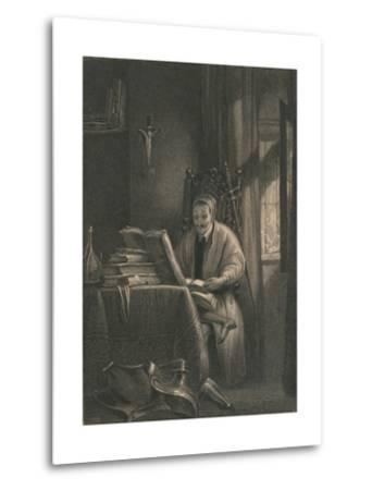 Don Quixote in His Study, 1831-Richard Parkes Bonington-Metal Print