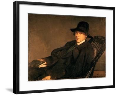 Portrait of Andre Gide (1869-1951), 1912-Jacques Emile Blanche-Framed Giclee Print