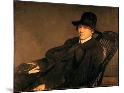 Portrait of Andre Gide (1869-1951), 1912-Jacques Emile Blanche-Mounted Giclee Print