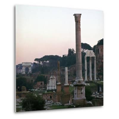 The Roman Forum in the Evening, 2nd Century-CM Dixon-Metal Print