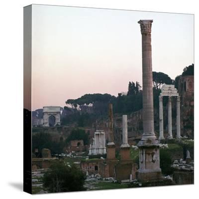 The Roman Forum in the Evening, 2nd Century-CM Dixon-Stretched Canvas Print
