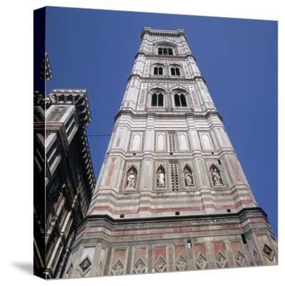 Giottos Tower in Florence Artist: Giotto-Giotto-Stretched Canvas Print