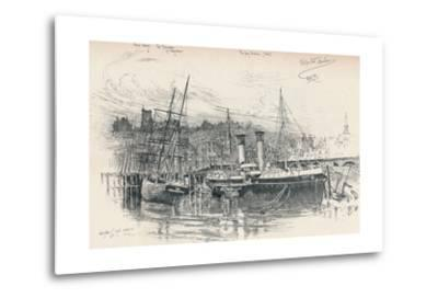 Folkestone Harbour, 1896, (1898)-Edward William Charlton-Metal Print