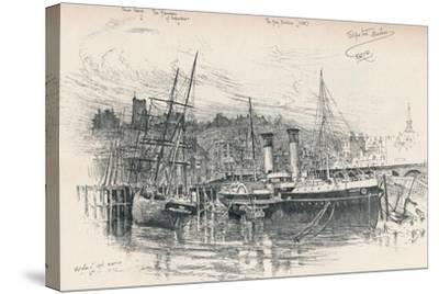 Folkestone Harbour, 1896, (1898)-Edward William Charlton-Stretched Canvas Print