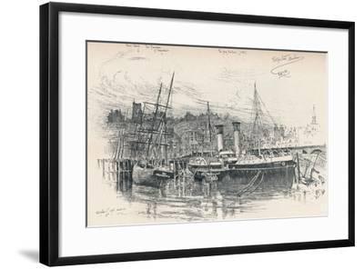 Folkestone Harbour, 1896, (1898)-Edward William Charlton-Framed Giclee Print