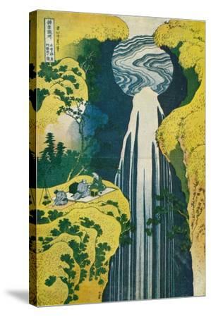The Waterfall of Amida Behind the Kiso Road, C1832. (1925)-Katsushika Hokusai-Stretched Canvas Print