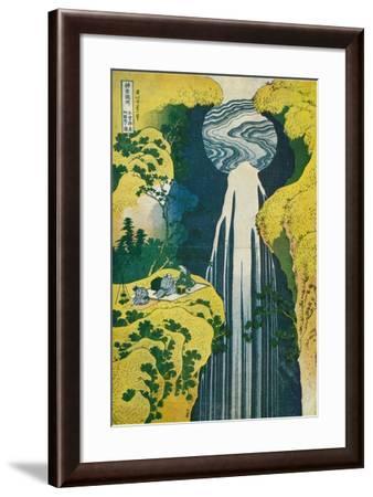 The Waterfall of Amida Behind the Kiso Road, C1832. (1925)-Katsushika Hokusai-Framed Giclee Print