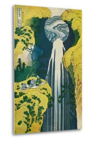 The Waterfall of Amida Behind the Kiso Road, C1832. (1925)-Katsushika Hokusai-Metal Print