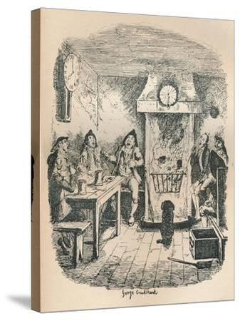 Scotland Yard, C1900-George Cruikshank-Stretched Canvas Print