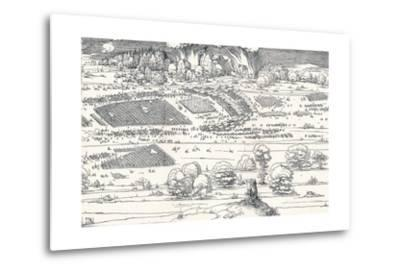 The Siege of a Fortress Ii, 1527-Albrecht D?rer-Metal Print