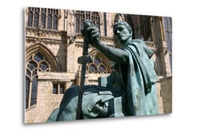 Statue of Constantine the Great, York, North Yorkshire-Peter Thompson-Metal Print