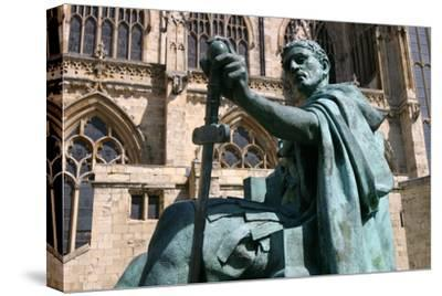 Statue of Constantine the Great, York, North Yorkshire-Peter Thompson-Stretched Canvas Print