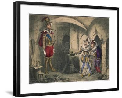 Discovery of Guido Fawkes by Suffolk and Mounteagle, 1850-John Leech-Framed Giclee Print