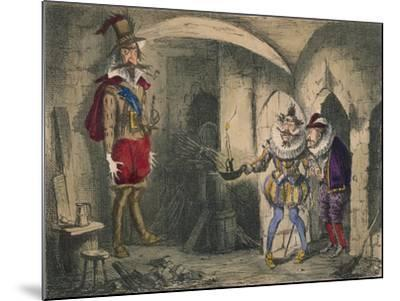 Discovery of Guido Fawkes by Suffolk and Mounteagle, 1850-John Leech-Mounted Giclee Print