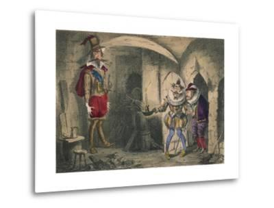 Discovery of Guido Fawkes by Suffolk and Mounteagle, 1850-John Leech-Metal Print