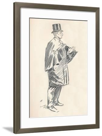 Lead Pencil Sketch by Phil May, C19th Century (1903-1904)-Philip William May-Framed Giclee Print