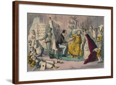 Edwards Arm in the Hands of His Medical Advisers, 1850-John Leech-Framed Giclee Print