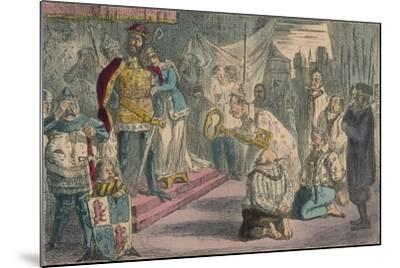 Queen Philippa Interceding with Edward III for the Six Burgesses of Calais, 1850-John Leech-Mounted Giclee Print
