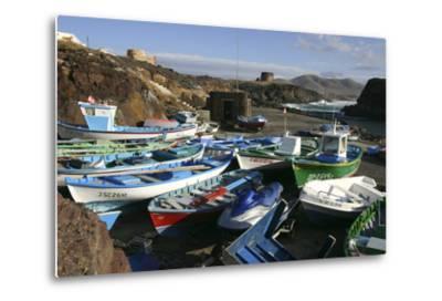 Fishing Boats, El Cotillo, Fuerteventura, Canary Islands-Peter Thompson-Metal Print