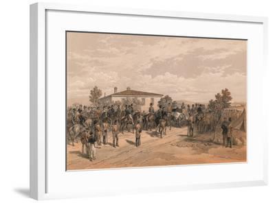 The Funeral Cortege of Lord Raglan Leaving Head Quarters, 1856-Thomas Picken-Framed Giclee Print