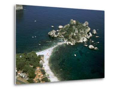 Isola Bella, Taormina, Sicily, Italy-Peter Thompson-Metal Print