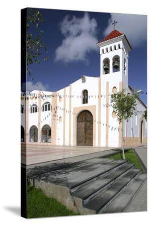 Church, Gran Tarajal, Fuerteventura, Canary Islands-Peter Thompson-Stretched Canvas Print