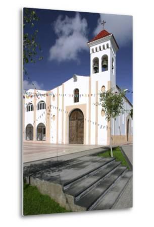 Church, Gran Tarajal, Fuerteventura, Canary Islands-Peter Thompson-Metal Print