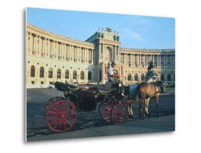 The Hofburg with Carriage, Vienna, Austria-Peter Thompson-Metal Print