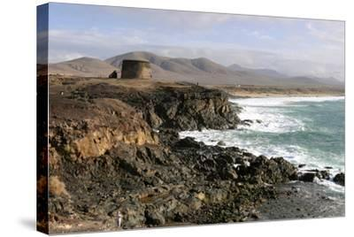 Tower, El Cotillo, Fuerteventura, Canary Islands-Peter Thompson-Stretched Canvas Print