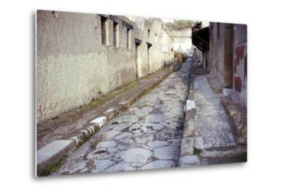 Paved Street in the Roman Town of Herculaneum, Italy-CM Dixon-Metal Print