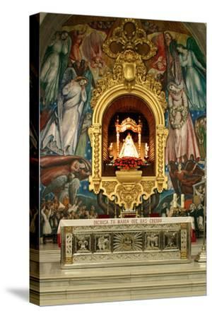 Inside Church, Candelaria, Tenerife, 2007-Peter Thompson-Stretched Canvas Print