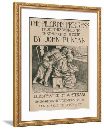Bunyans Wife Reading the Bible to Him, C1916-William Strang-Framed Giclee Print