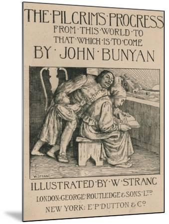 Bunyans Wife Reading the Bible to Him, C1916-William Strang-Mounted Giclee Print