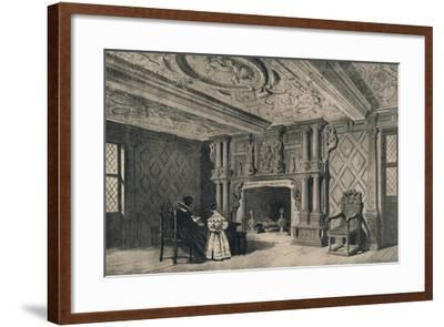 The Drawing-Room, Park Hall, Shropshire, 1915-CJ Richardson-Framed Giclee Print