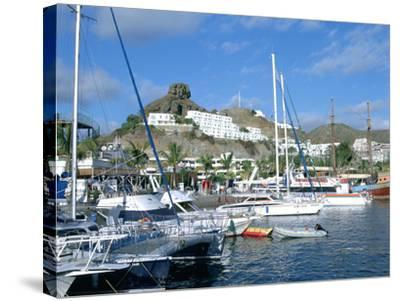 Marina, Puerto Rico, Gran Canaria, Canary Islands-Peter Thompson-Stretched Canvas Print