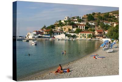 Beach, Assos, Kefalonia, Greece-Peter Thompson-Stretched Canvas Print