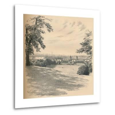 Greenwich Palace from Observatory Hill, 1902-Thomas Robert Way-Metal Print