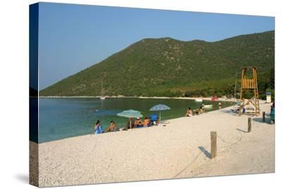 Antisamos (Captain Corellis Beach), Kefalonia, Greece-Peter Thompson-Stretched Canvas Print