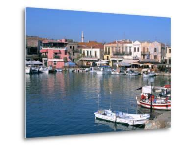 Old Harbour, Rethymnon, Crete, Greece-Peter Thompson-Metal Print