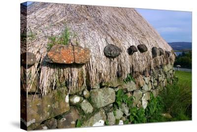 Black House, Colbost Folk Museum, Skye, Highland, Scotland-Peter Thompson-Stretched Canvas Print