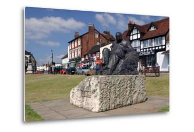 Sir Winston Churchill Statue, Westerham, Kent-Peter Thompson-Metal Print