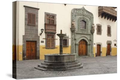 Casa De Colon, Las Palmas, Gran Canaria, Canary Islands, Spain-Peter Thompson-Stretched Canvas Print