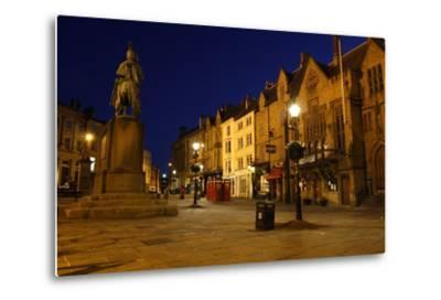 Market Place at Night, Durham-Peter Thompson-Metal Print