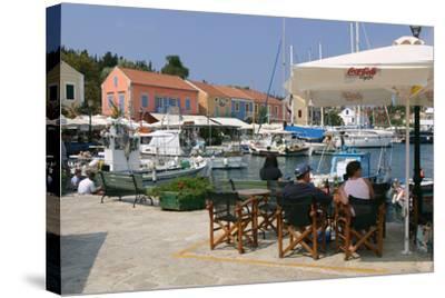 Fiskardo Harbour, Kefalonia, Greece-Peter Thompson-Stretched Canvas Print